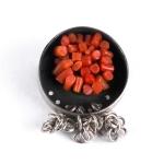 Coral brooch